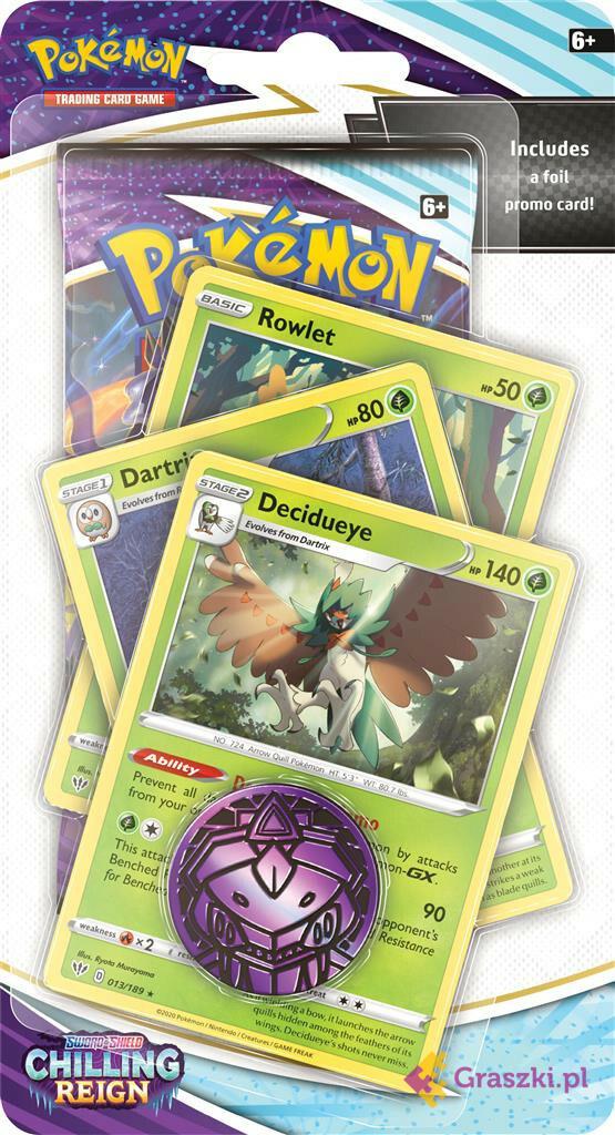 Pokémon TCG: Chilling Reign Premium Checklane Blister Decidueye